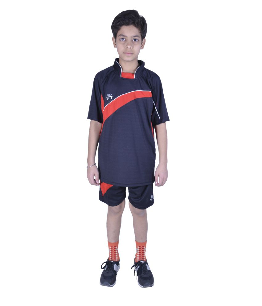 Sst Black Football Active Wear