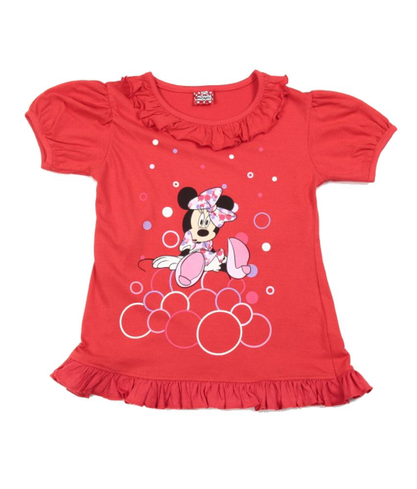 Disney Red T Shirt For Girls Buy Disney Red T Shirt For