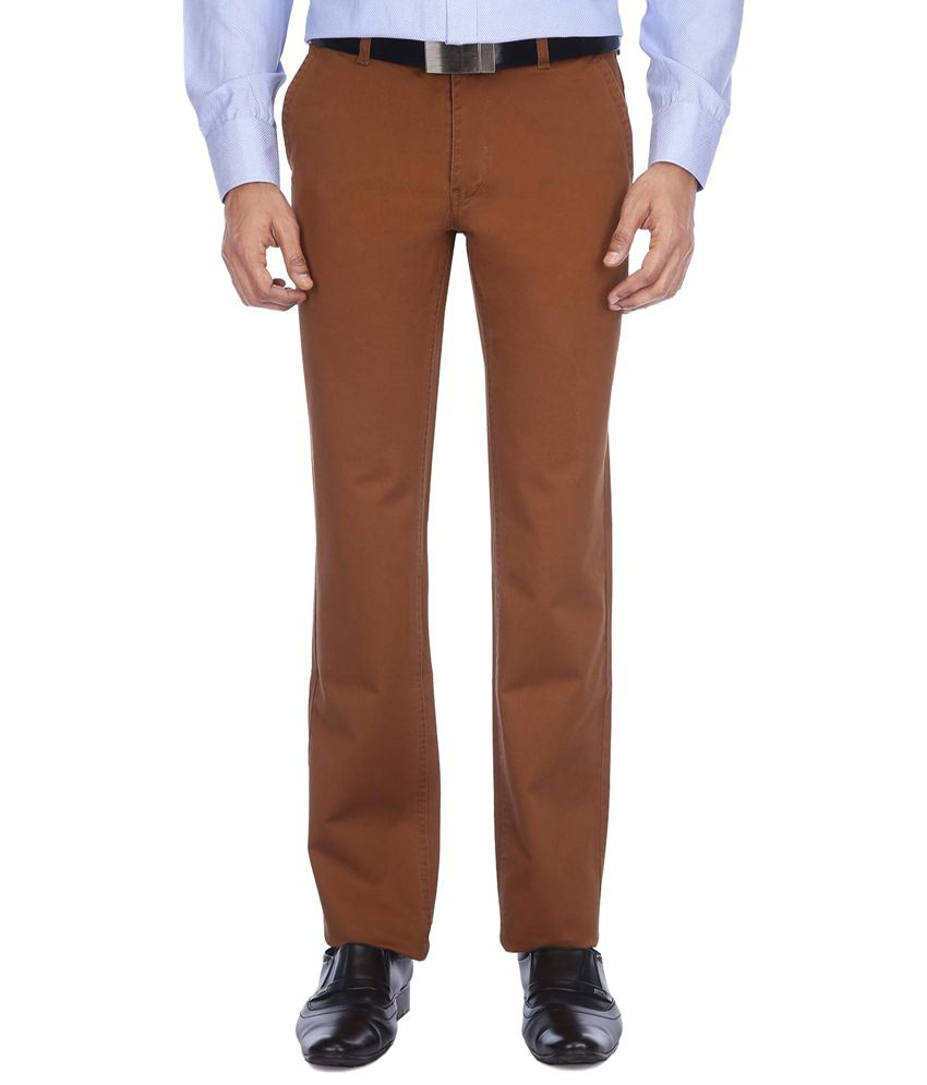 Vettorio Fratini Brown Formal Chinos