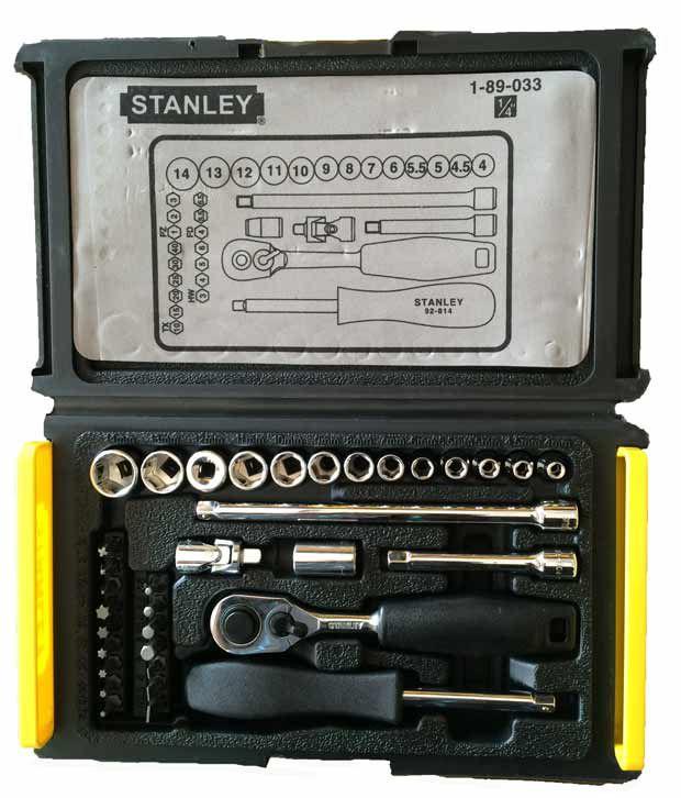 Stanley - Mechanic Tools - (1-89-033) - 35 Piece ; 1/4 Drive ; 6 Point Socket & Bit Set Image