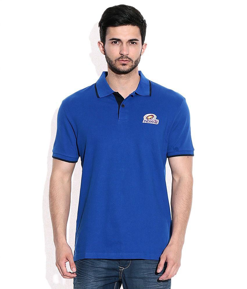 Mumbai Indians Official Men's Blue Polo T-Shirt