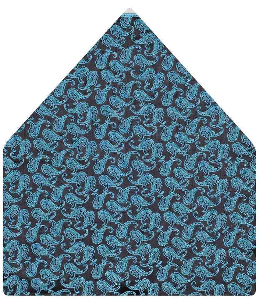 Tiekart Micro Fibre Striking Blue Paisley Pocket Square