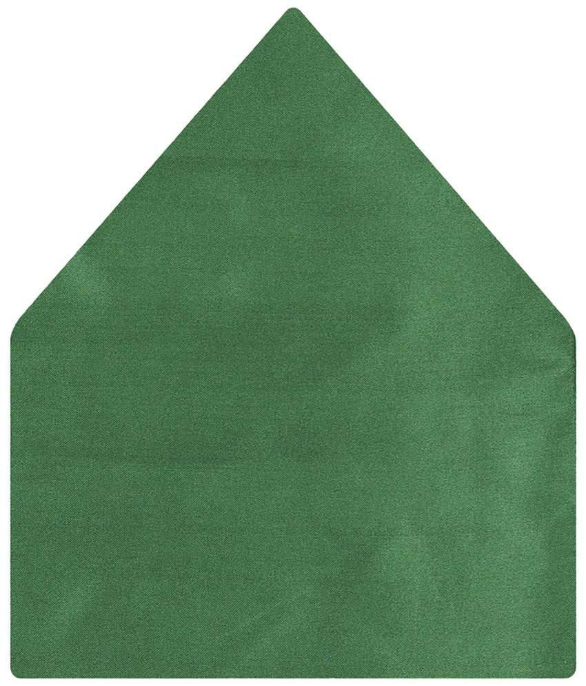 Tiekart Satin Jade Green Plain Pocket Square