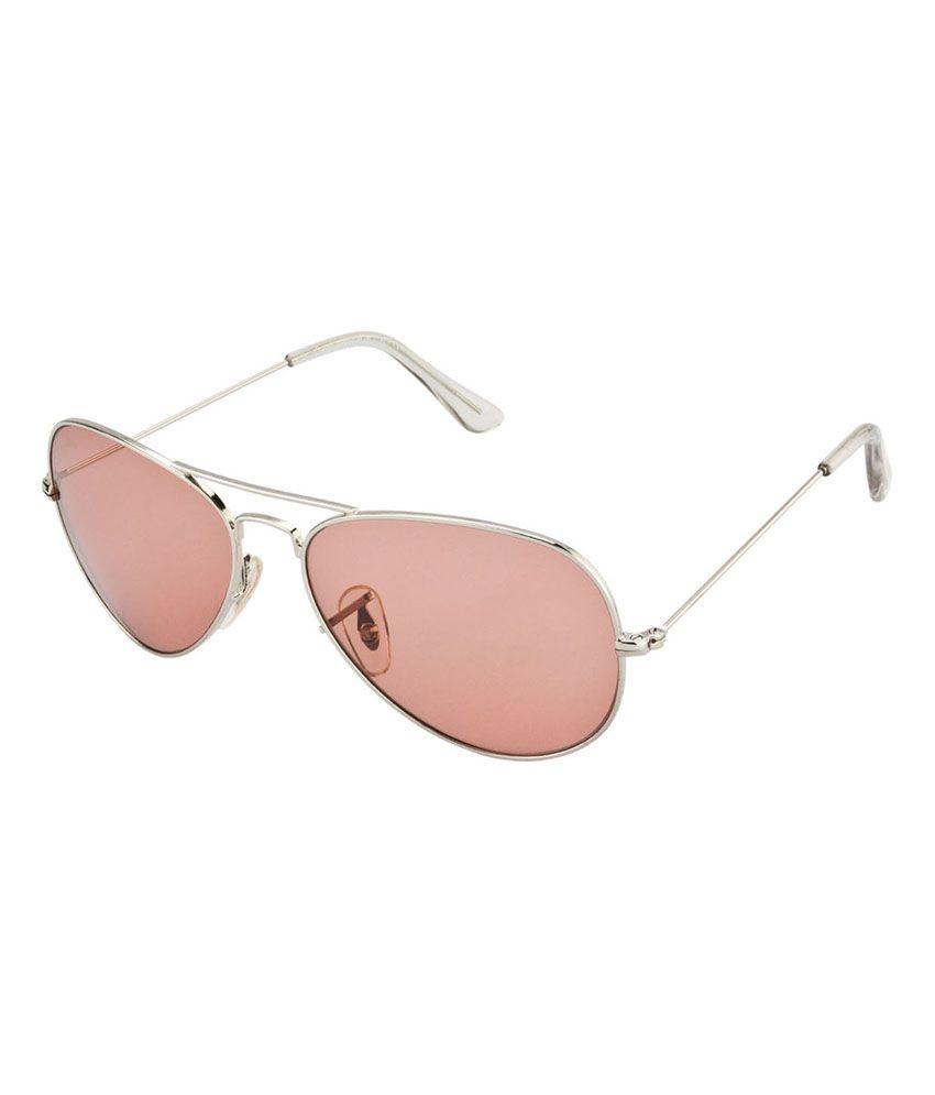 Velocity Silver Metal UV Protection Aviator Sunglasses