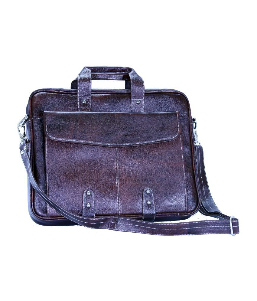 American-Elm Brown Leather Messenger Bag