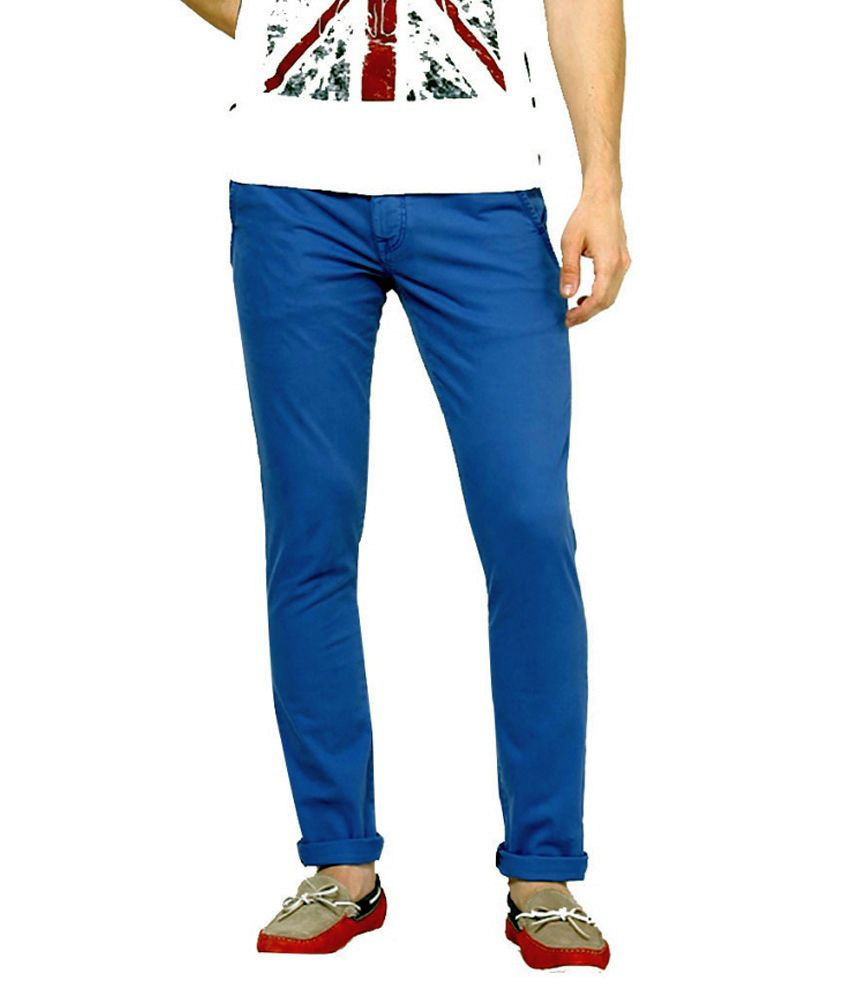 Blue Saint Blue Cotton Chinos