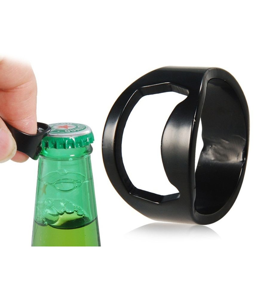 rudham black steel ring bottle opener buy online at best price in india snapdeal. Black Bedroom Furniture Sets. Home Design Ideas