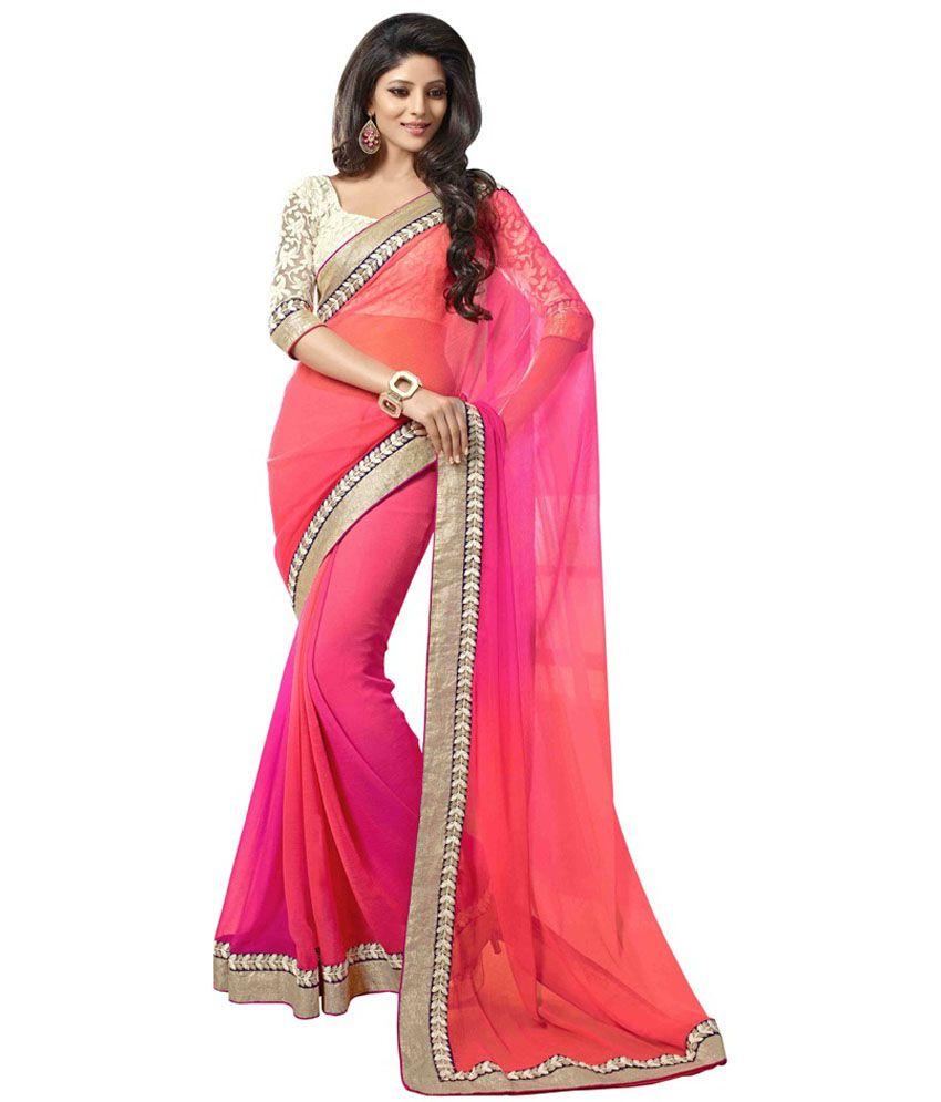 ... colour designer sarees Online at Low Price - Snapdeal.com