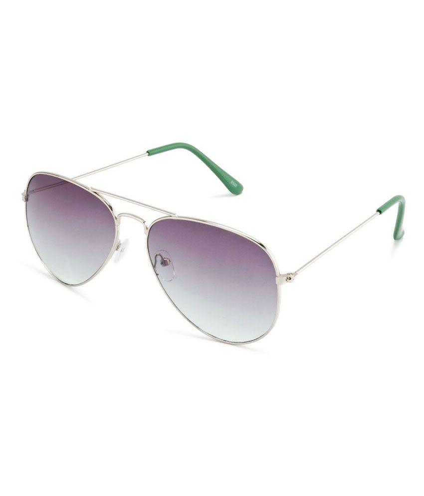 Oasis Green Aviator Metal Sunglasses