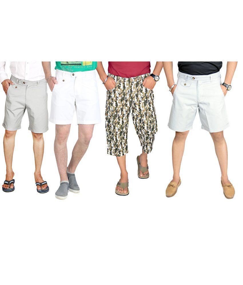 Sparrow Clothings Multi Cotton Shorts
