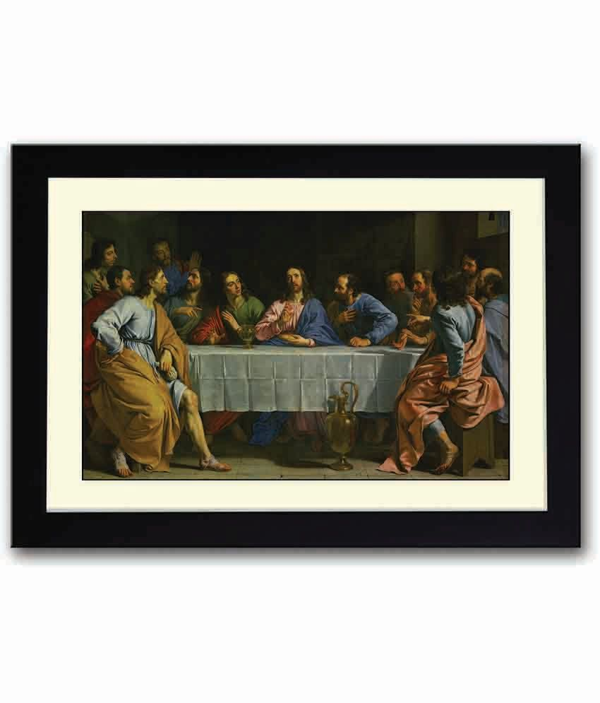 Artifa The Last Supper Jesus Christ Wooden Framed Poster Buy Artifa