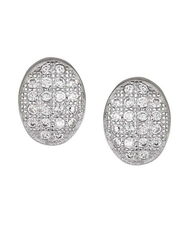 Lucera 92.5 Sterling Silver Contemporary Stud Earrings