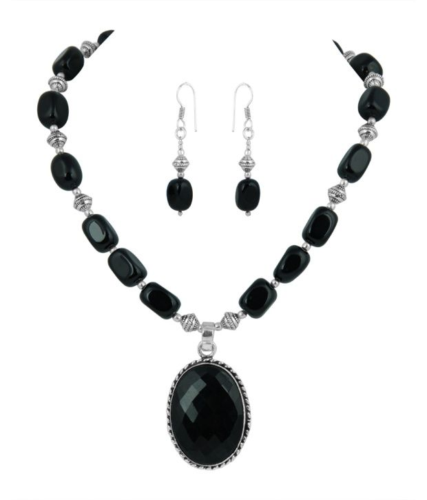 Pearlz Ocean Black Style Diva Necklace Set