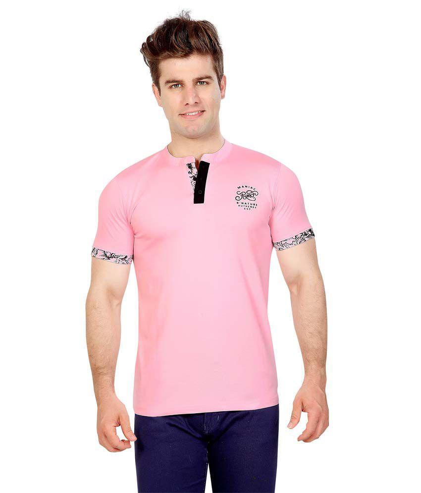 Maniac Pink Floral Henley