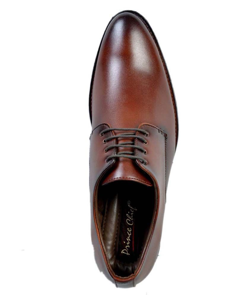 Prince Chief Tan Formal Shoes