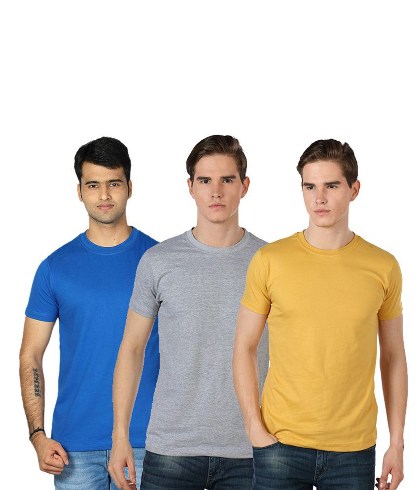 Rakshita's Mens round neck Tshirt Set of 3