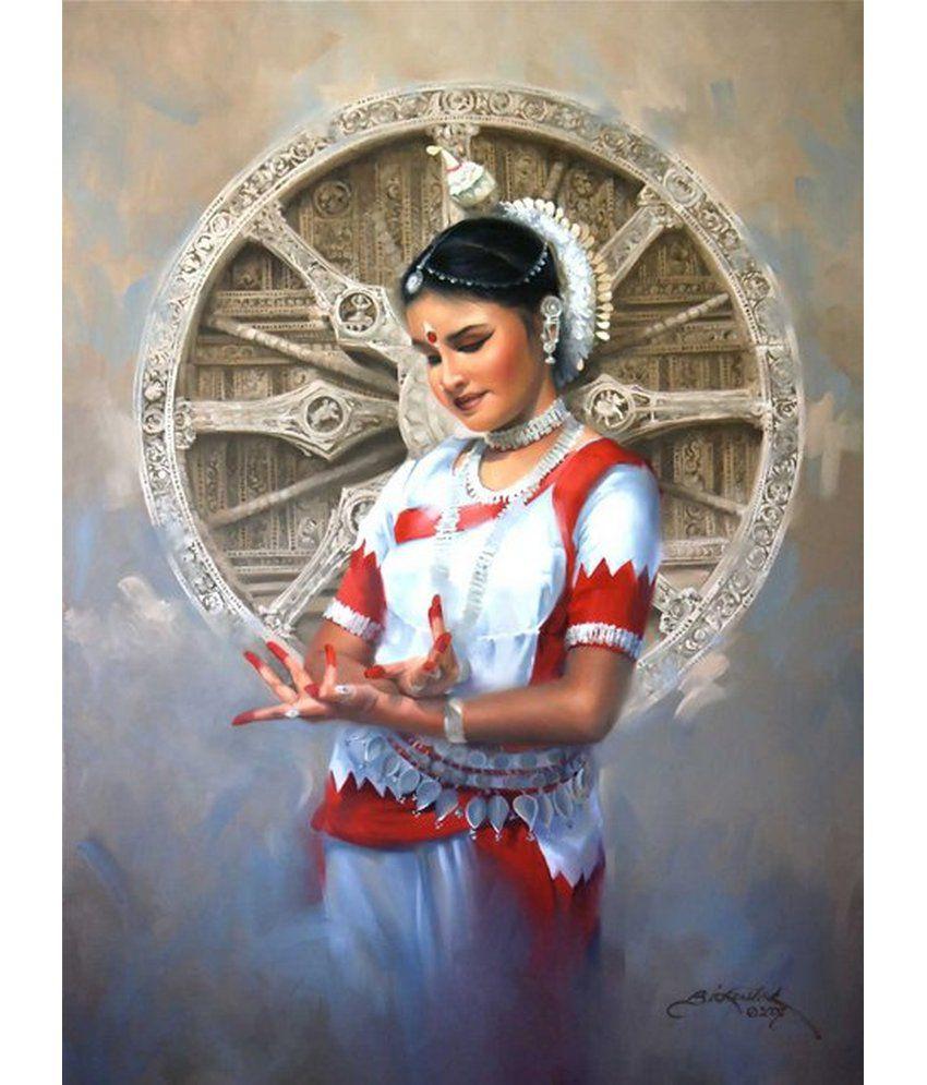 Wonder Images Pvt. Ltd. Ethnic Beautiful Dance Canvas Art