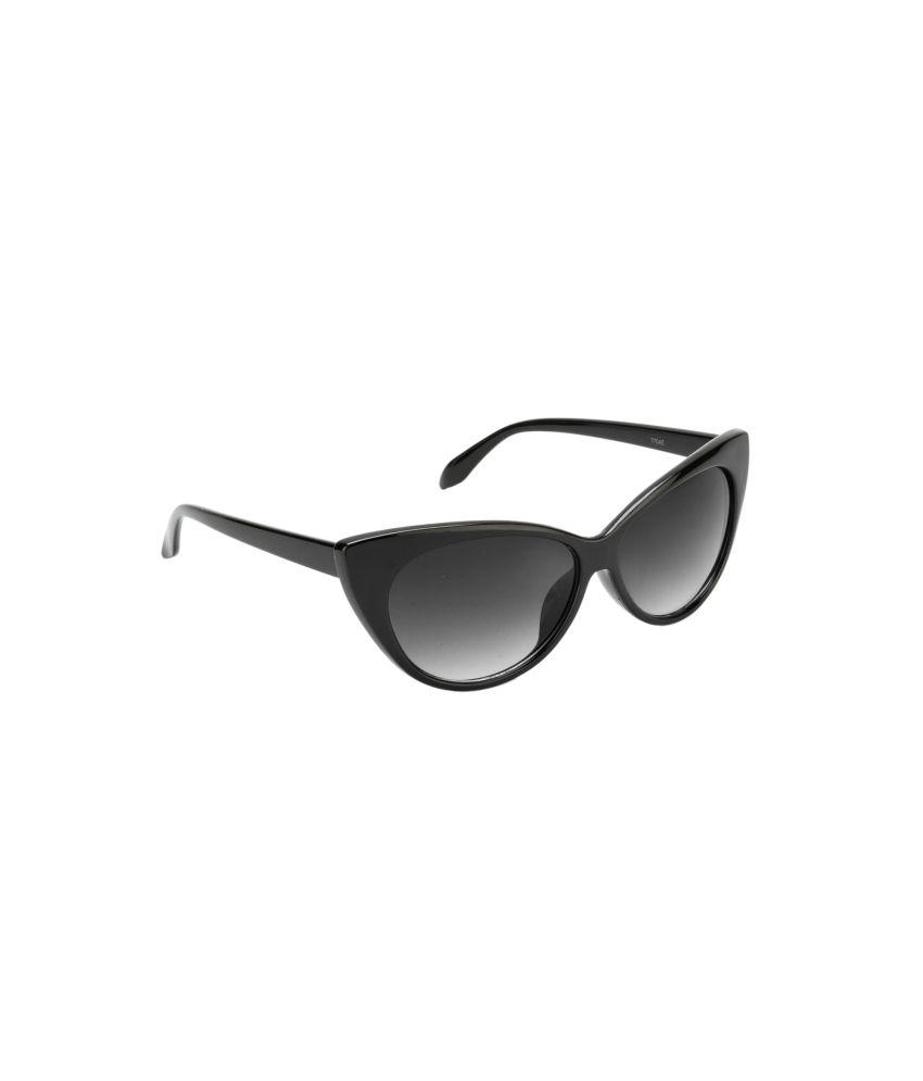 e03d1c735 Fair-X Stylish Shiny Black Cat Eye Sunglasses For Women - Buy Fair-X Stylish  Shiny Black Cat Eye Sunglasses For Women Online at Low Price - Snapdeal