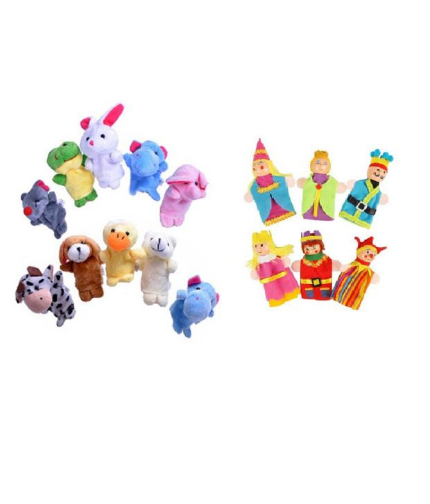 Kuhu Creations Kuhu Creations Animal Velvet Finger Puppets