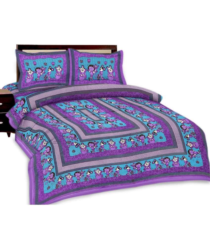 Shopping Rajasthan Designer Jaipuri Double Bed Sheet With