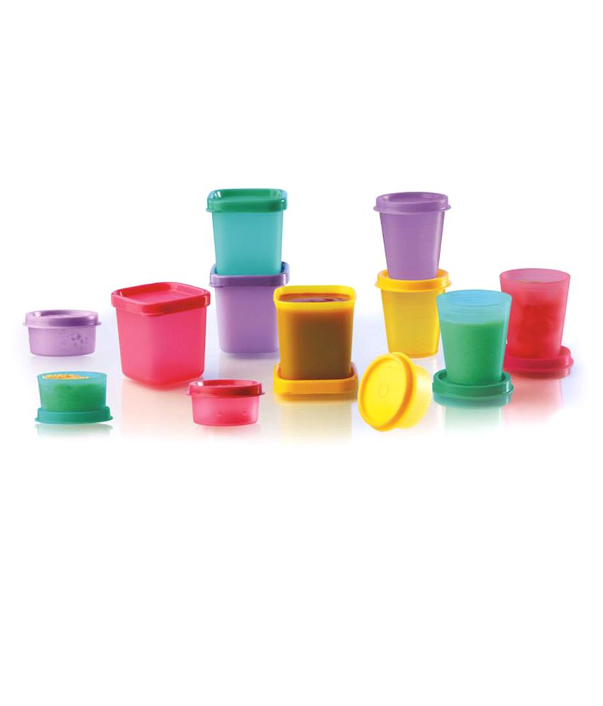 Tupperware Multicolour Cool Square Mini Ice Trays Set Of