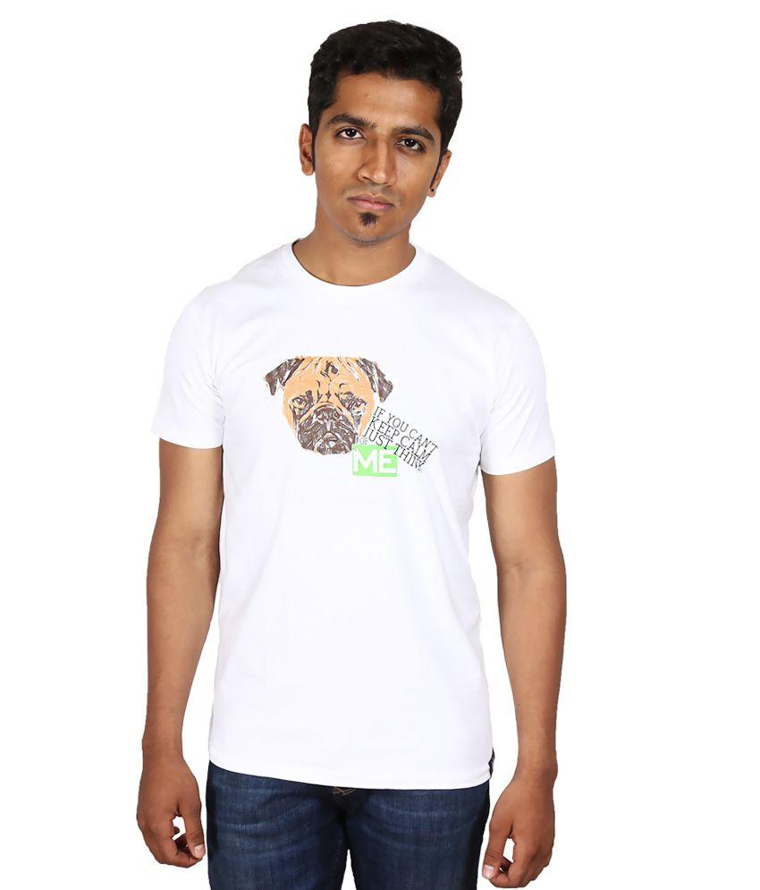 Inkspool Keep Calm White Cotton T-shirt