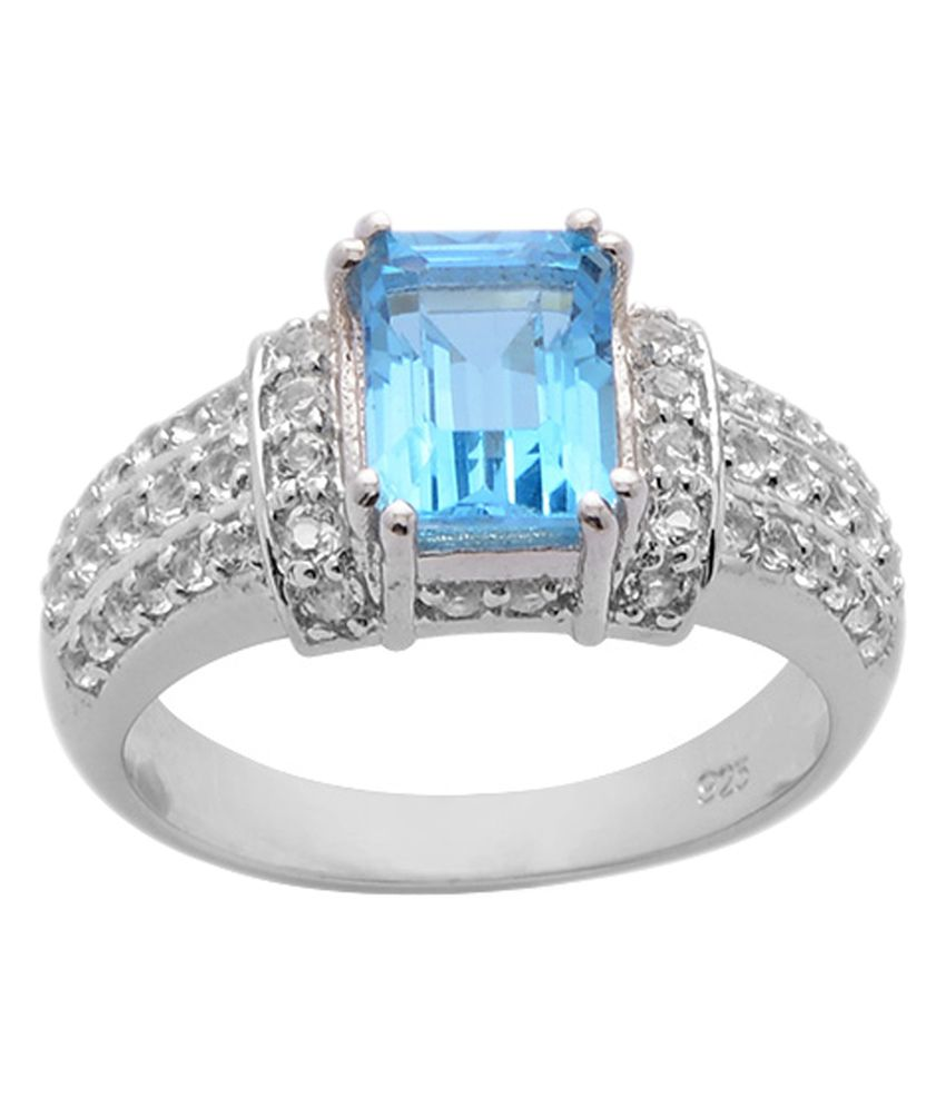 Topaz Silver Rings India