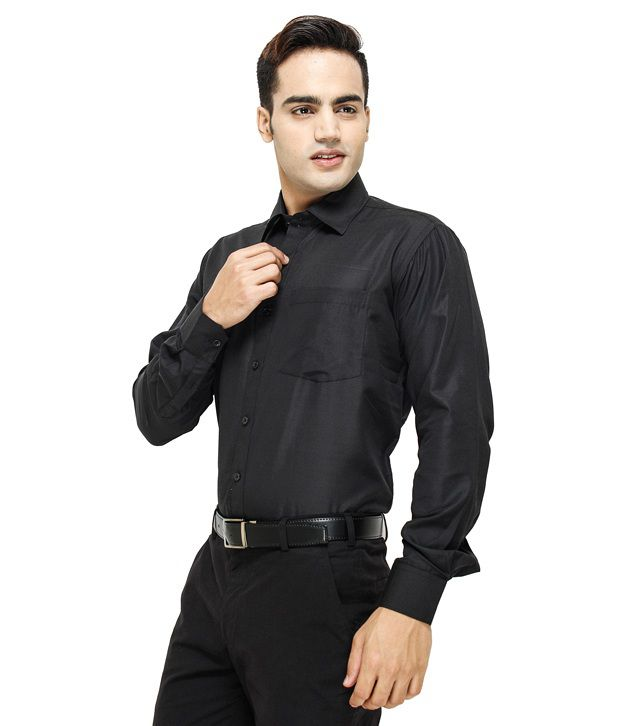 Mall4all All Black Shirt With Watch - Buy Mall4all All Black Shirt ...