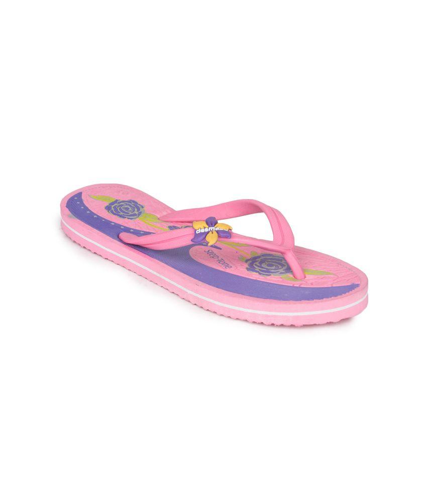 11e Pink Flat Hawai Flip Flops