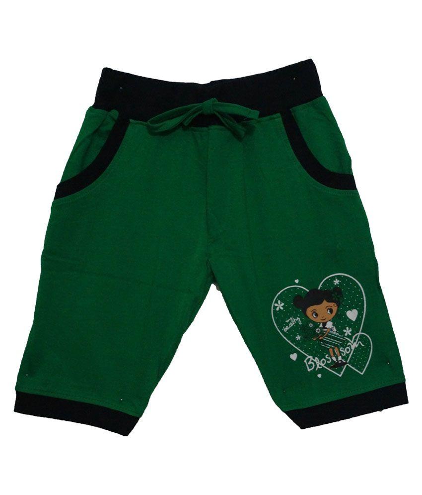 Color Kids Green Cotton Shorts
