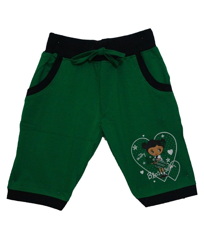 Color Kids Green Cotton Shorts