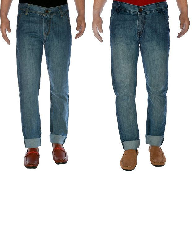 K-SAN Cotton Denim Jeans Pack Of 2
