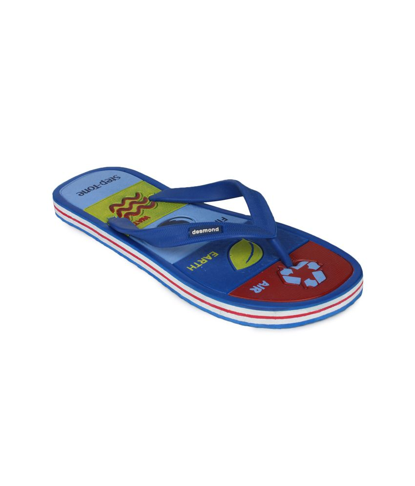 11e Blue Casual Flip Flops