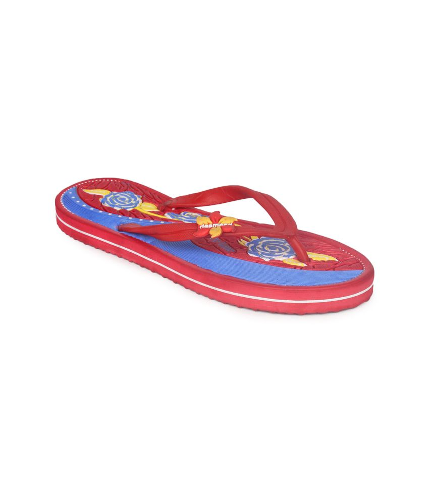 11e Red Flat Hawai Flip Flops