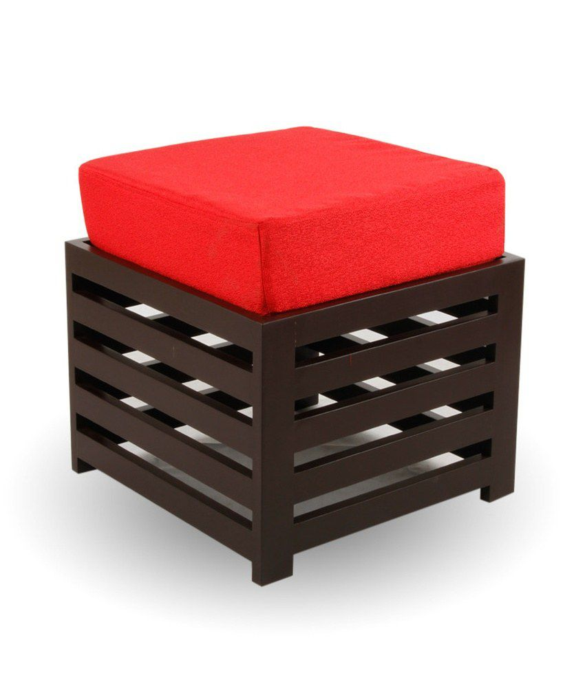 Arra Jinjer Contemporary High Rise Stool - Red