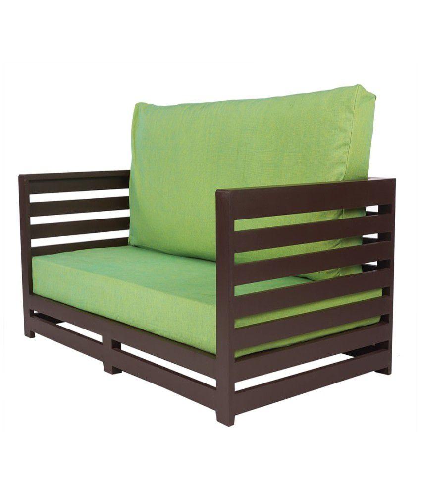 Arra Jinjer Contemporary Sofa Set Fluorescent Green