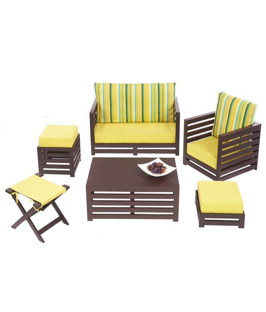 Arra Jinjer Contemporary Sofa Set - Green Delite