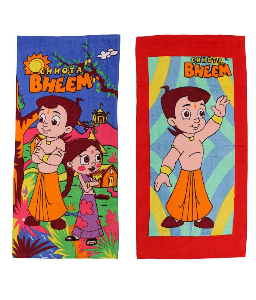 Chhota Bheem Red & Blue Baby themes 2 Towels