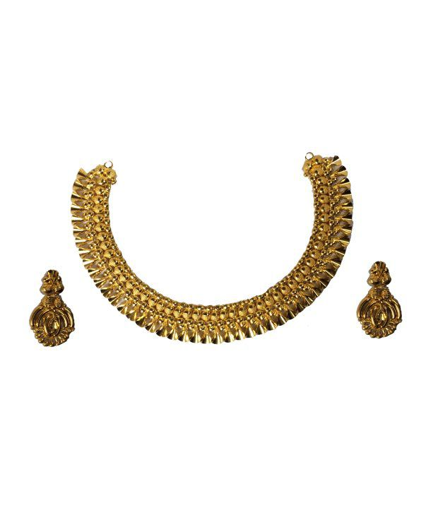 Kataria Jewellers 22Kt Hallmarked Contemporary Necklace Set