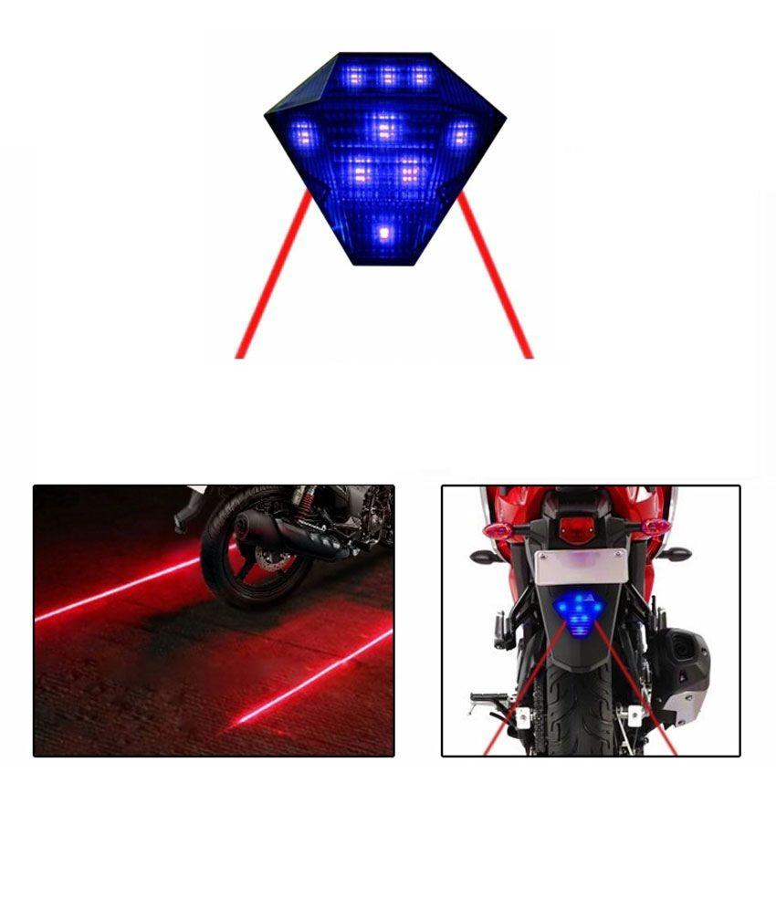 mxs motosport led laser brake light with flasher blue bajaj pulsar