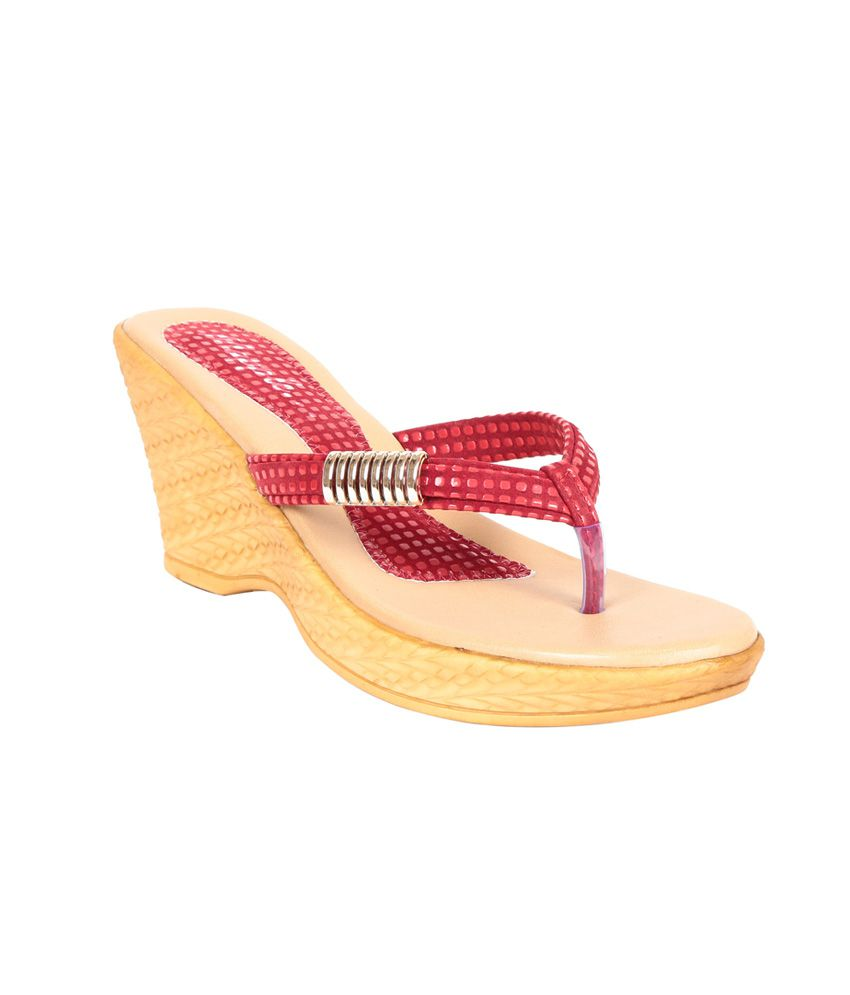 Adorn Red Partyware Sandal