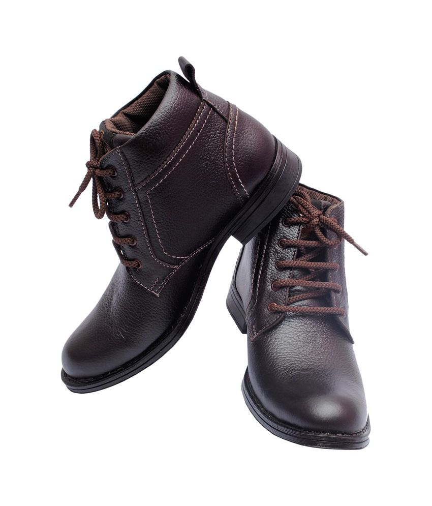 Decent Collection Lovely Brown Leather Daily wear Boots