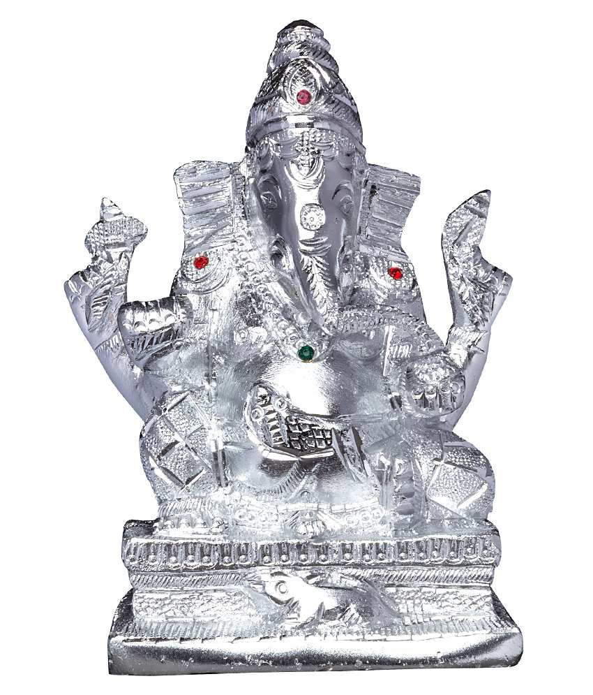 Mangal Handcarfted White Metal Ganesha Idol 6 5k Buy Mangal