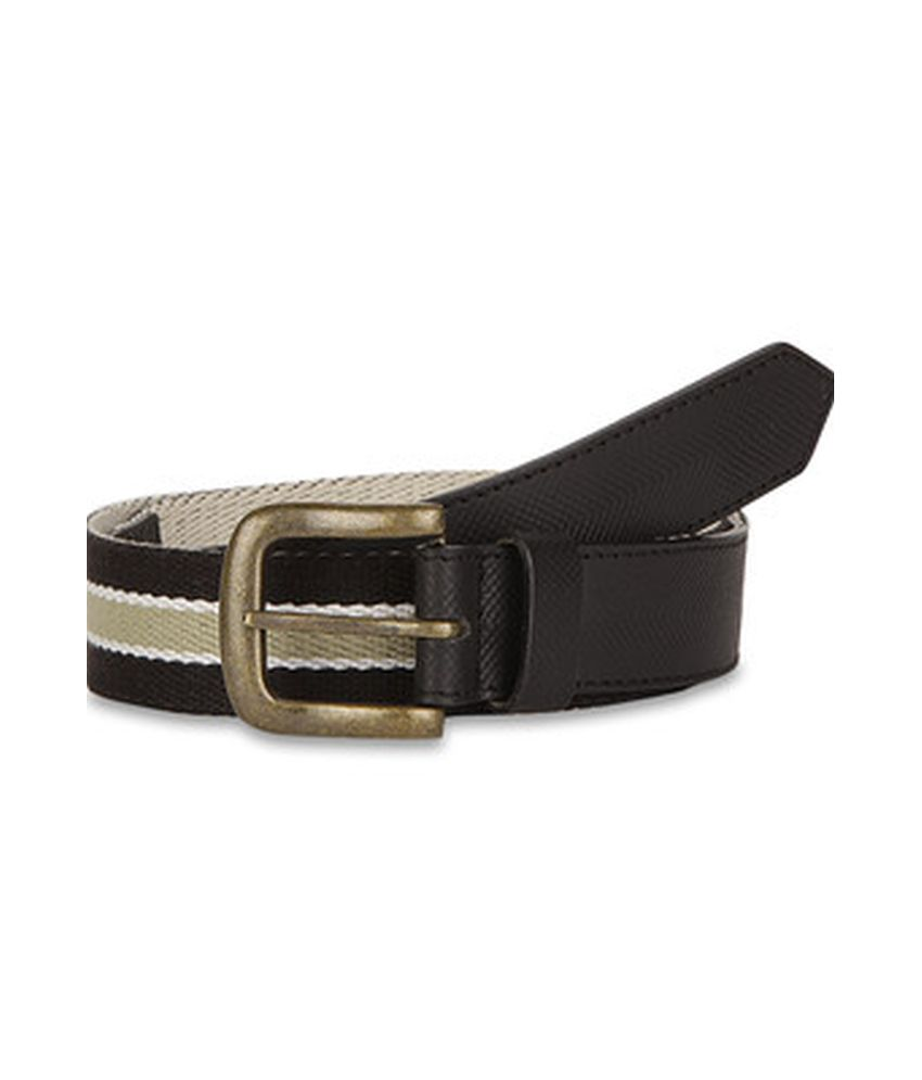 Paradigm Design lab Black Casual Leather Belt