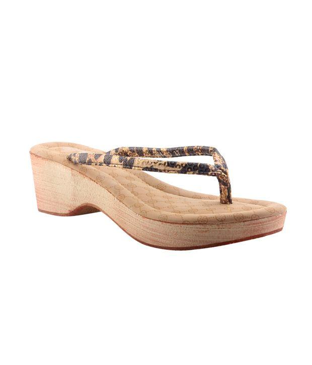 Pareza Yellow Cone Medium Heeled Sandal