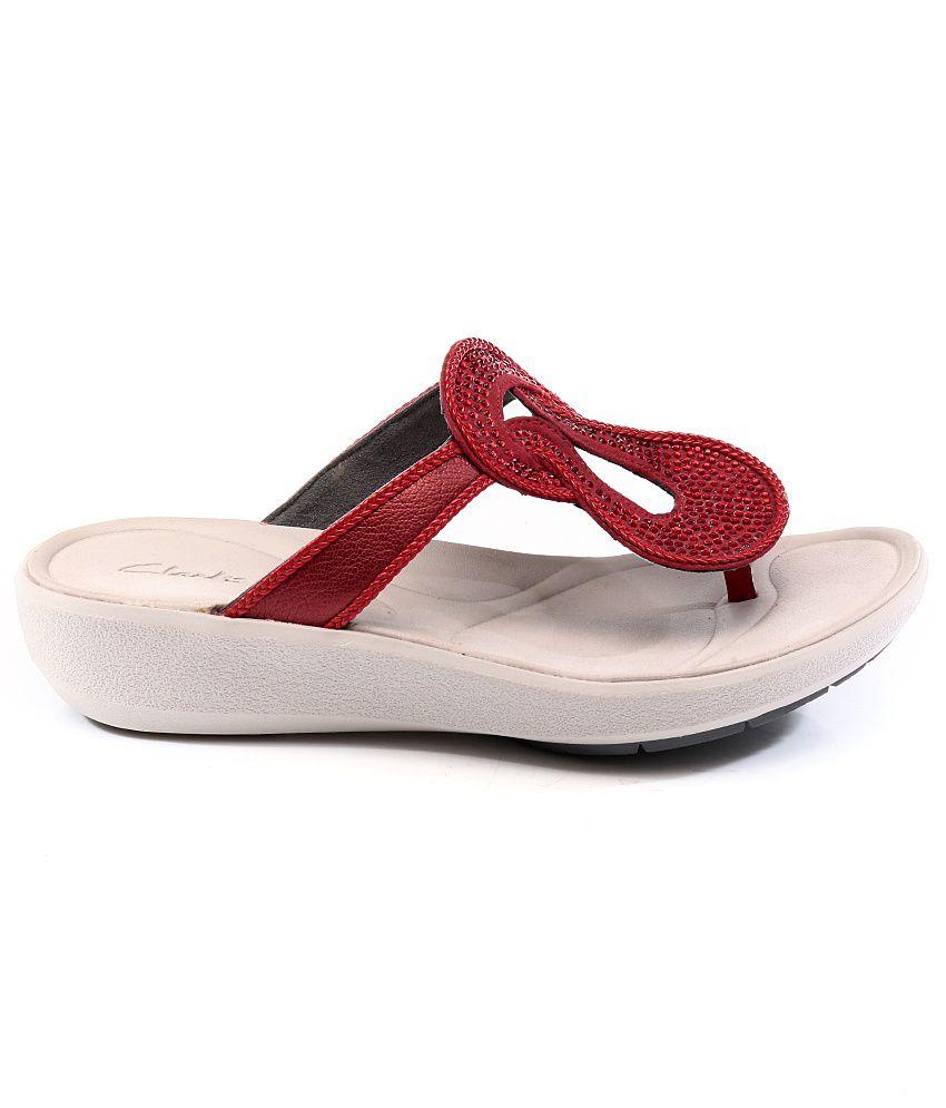 Clarks Wave Glitz Red Sandals Price In India Buy Clarks