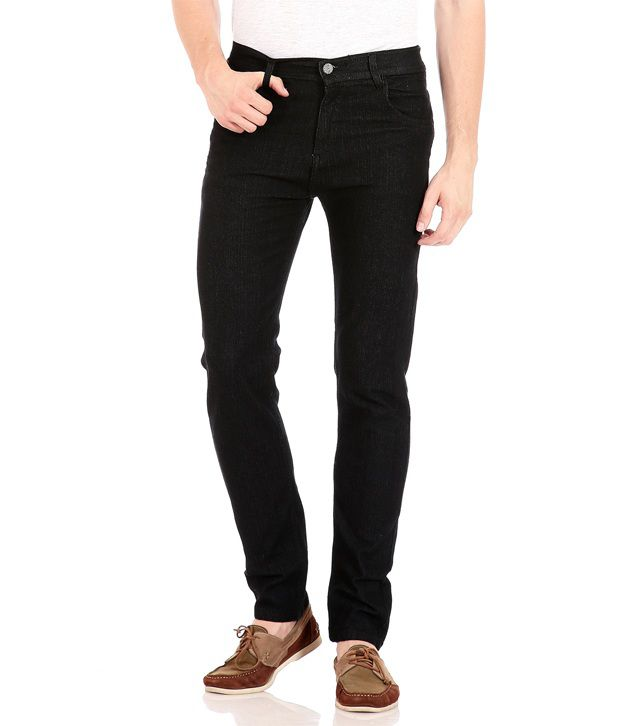 be4c2383b31 Flyjohn Black Cotton Slim Fit Jeans - Buy Flyjohn Black Cotton Slim Fit Jeans  Online at Best Prices in India on Snapdeal