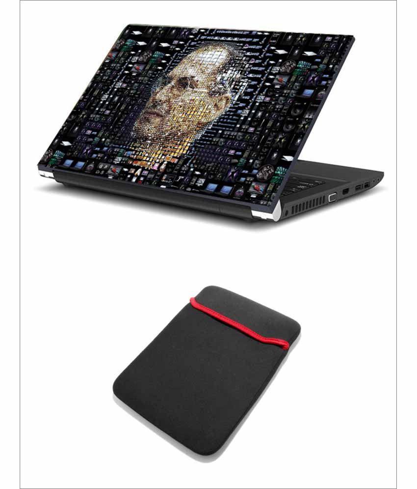 Print Shapes Apple Steve Jobs Face Portrait Laptop Skin ...