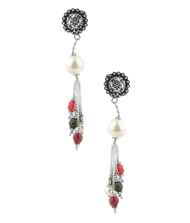 Voylla Beautiful Style Diva Hanging Earrings