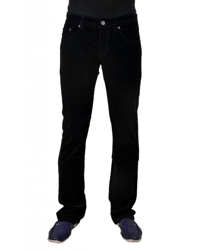 Chandra Black Cotton Blend Jeans